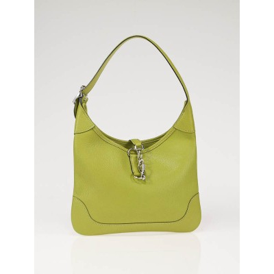 Hermes Chartreuse Chevre Leather 23cm Mini Trim II Bag