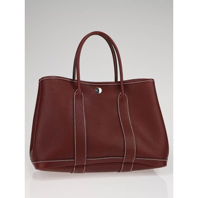 Hermes Rouge H Negonda Leather Garden Party TPM Tote Bag