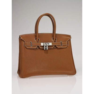 Hermes 30cm Gold Togo Leather with Palladium Hardware Birkin Bag