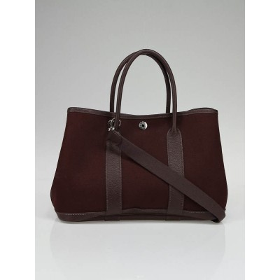 Hermes Brown Canvas/Leather Garden Party TPM Bag