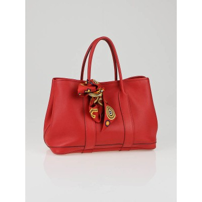 Hermes Rouge Garrance Swift Leather and Tohu Bohu Twilly Garden Party TPM Bag