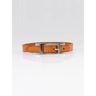 Hermes Brown Leather BeHapi Simple Tour Bracelet