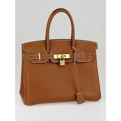 Hermes 30cm Gold Togo Leather Gold Hardware Birkin Bag