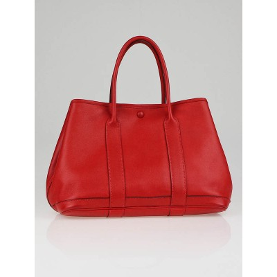 Hermes Vermillion Swift Leather Garden Party TPM Bag