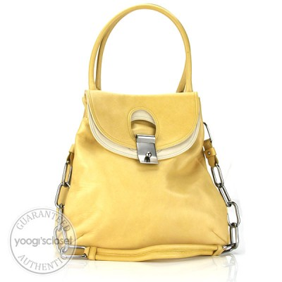 Marc Jacobs Pale Yellow Leather Daydream Suvi Bag