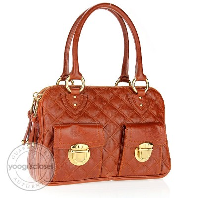 Marc Jacobs Brown Quilted Leather Blake Bag