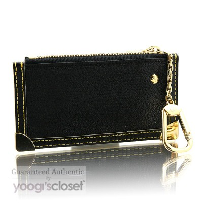 Louis Vuitton Black Suhali Key and Change Holder