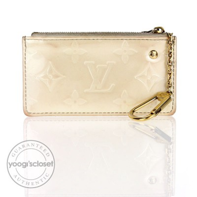 Louis Vuitton Perle Monogram Vernis Key and Change Holder