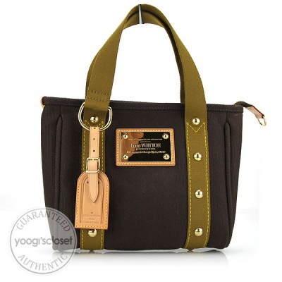 Louis Vuitton Brown Canvas Antigua Cabas PM Bag
