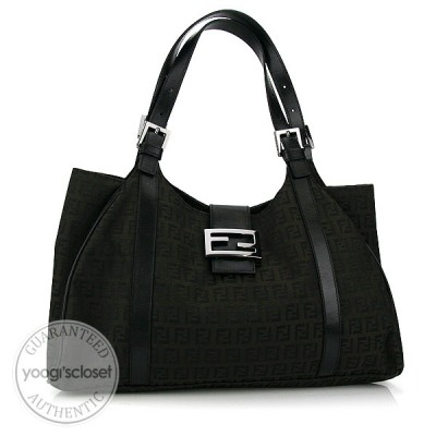 Fendi Zucchino Canvas Hobo Tote Bag