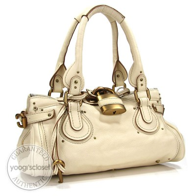 Chloe Ivory Paddington Medium Satchel Bag