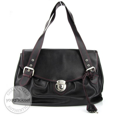 Marc Jacobs Black Leather Maggie Bag