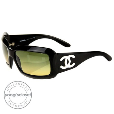 Chanel 5076-H Mother of Pearl Black Frame with Brown Lens  Sunglasses