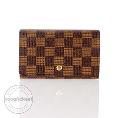 Louis Vuitton Damier Canvas Long Flat Wallet
