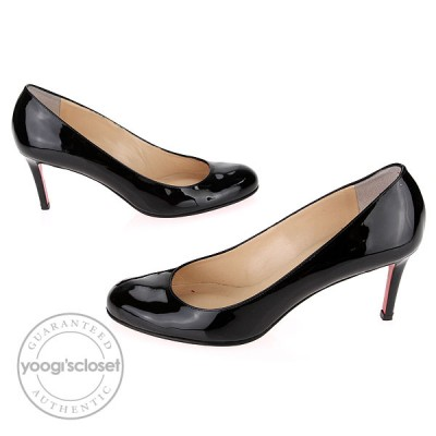 Christian Louboutin Black Patent Leather Simple 70 Pump Size 9.5