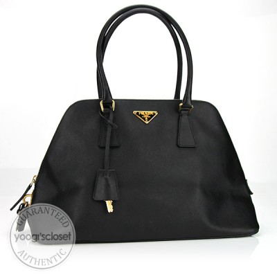 Prada Black Saffiano Leather Tote Bag BN0239