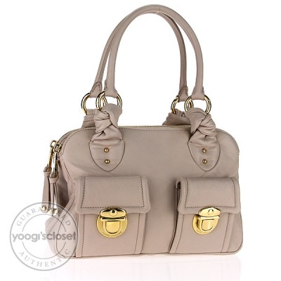 Marc Jacobs Putty Leather Mercer Blake Satchel Bag