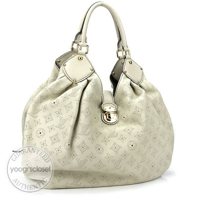Louis Vuitton Grey Mahina XL Bag