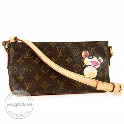 Louis Vuitton Limited Edition Panda Monogram Canvas Trotteur Bag