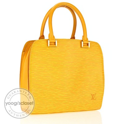 Louis Vuitton Tassil Yellow Epi Leather Pont-Neuf PM Bag