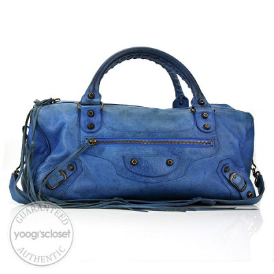 Balenciaga Blue Twiggy Motorcycle Bag
