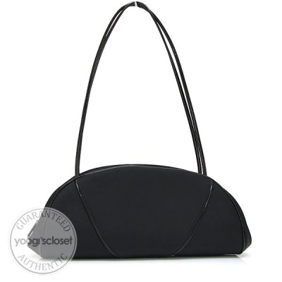 Christian Dior Black Nylon East/West Shoulder Bag
