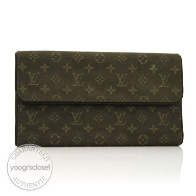 Louis Vuitton Khaki Monogram Mini Lin Porte-Tresor International Wallet