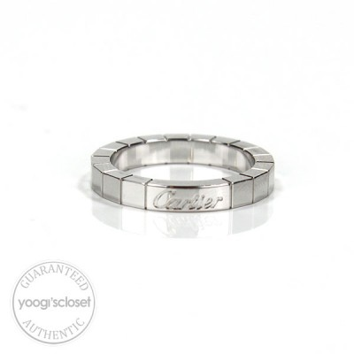 Cartier 18K White Gold Lanieres Ring Size 5.5