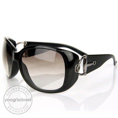 Gucci Black Horsebit Sunglasses 2951/F
