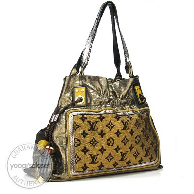 Louis Vuitton Limited Edition Gold Monogram Lurex Sunbird Bag