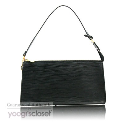 Louis Vuitton Black Epi Leather Accessories Pouch Bag