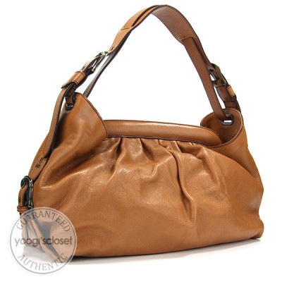Fendi Tan Leather Borsa Hobo Doctor Bag