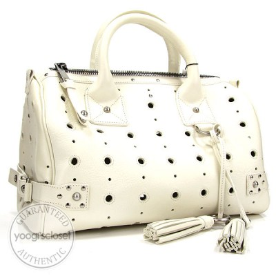 Marc Jacobs White Leather Brigitte Bag