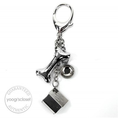 Louis Vuitton Silvertone Baxter Dog Key Holder and Bag Charm