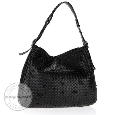 Bottega Veneta Nero Leather Naruto Knot Hobo Bag