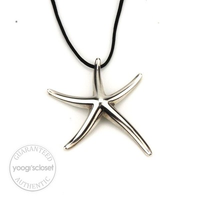 Tiffany & Co. Silver Elsa Peretti Large Starfish Necklace