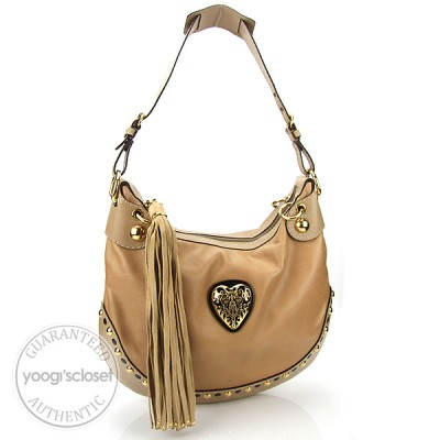 Gucci Beige Leather Babouska Hobo Bag