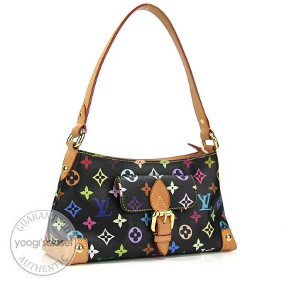 Louis Vuitton Black Monogram Multicolore Elize Bag