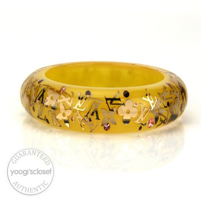 Louis Vuitton Yellow Monogram Inclusion Bracelet GM