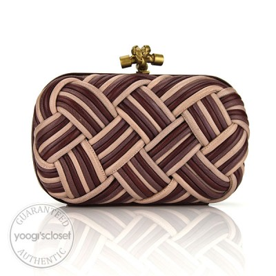 Bottega Veneta Multicolor Calabria Knot Clutch Bag