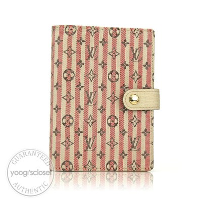 Louis Vuitton Red/White Mini Lin Croisette Small Ring Agenda