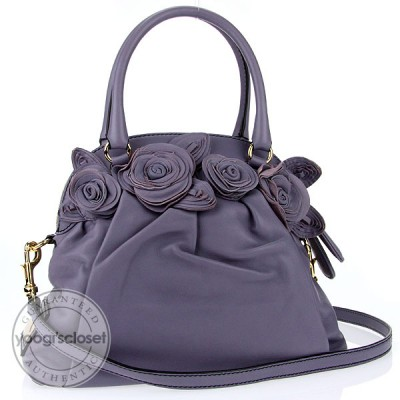 Valentino Garavani Iris Nappa Leather Fleur Satchel Bag