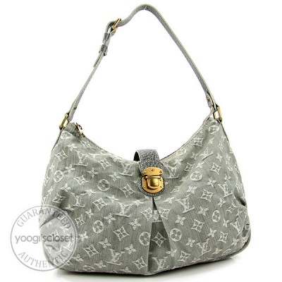 Louis Vuitton Gray Monogram Denim Slightly Bag