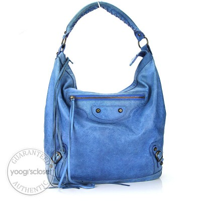 Balenciaga French Blue Chevre Leather Day Bag