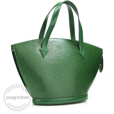 Louis Vuitton Borneo Green  Epi Leather Saint Jacques Short Handle Bag