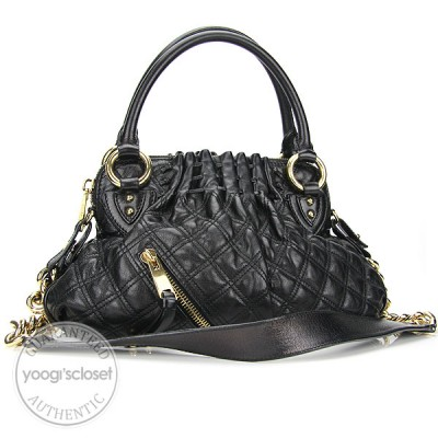 Marc Jacobs Black Quilted Calfskin Leather Small Cecilia Bag