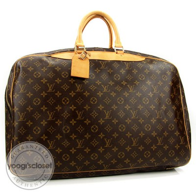 Louis Vuitton Monogram Canvas Alize 2 Compartments Soft Suitcase