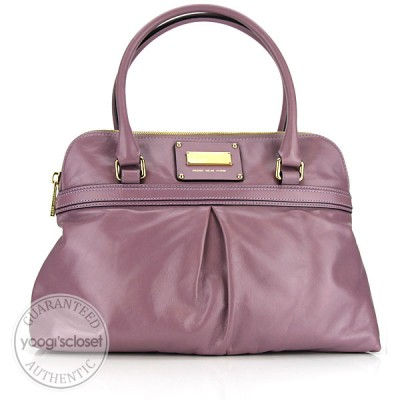 Marc Jacobs Purple Leather Jen Shoulder Bag