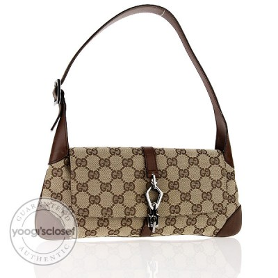 Gucci Beige/Ebony GG Fabric Abbey Small Shoulder Bag