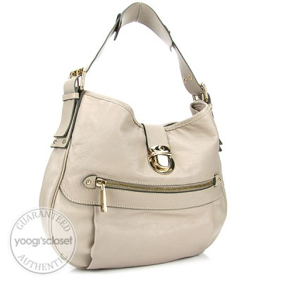 Marc Jacobs Taupe Calfskin Hobo Bag